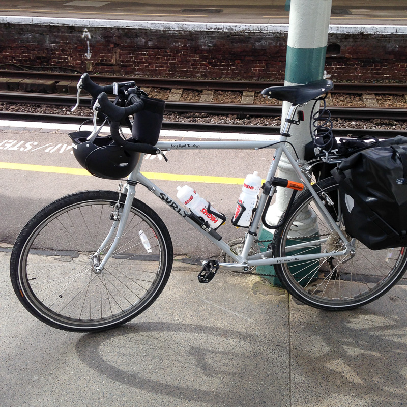 Waiting for the train at Hove to go to London then cycle round Kent