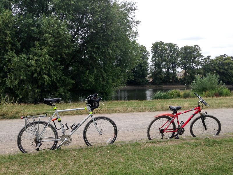 Cycling with my nephew in Bushy park
