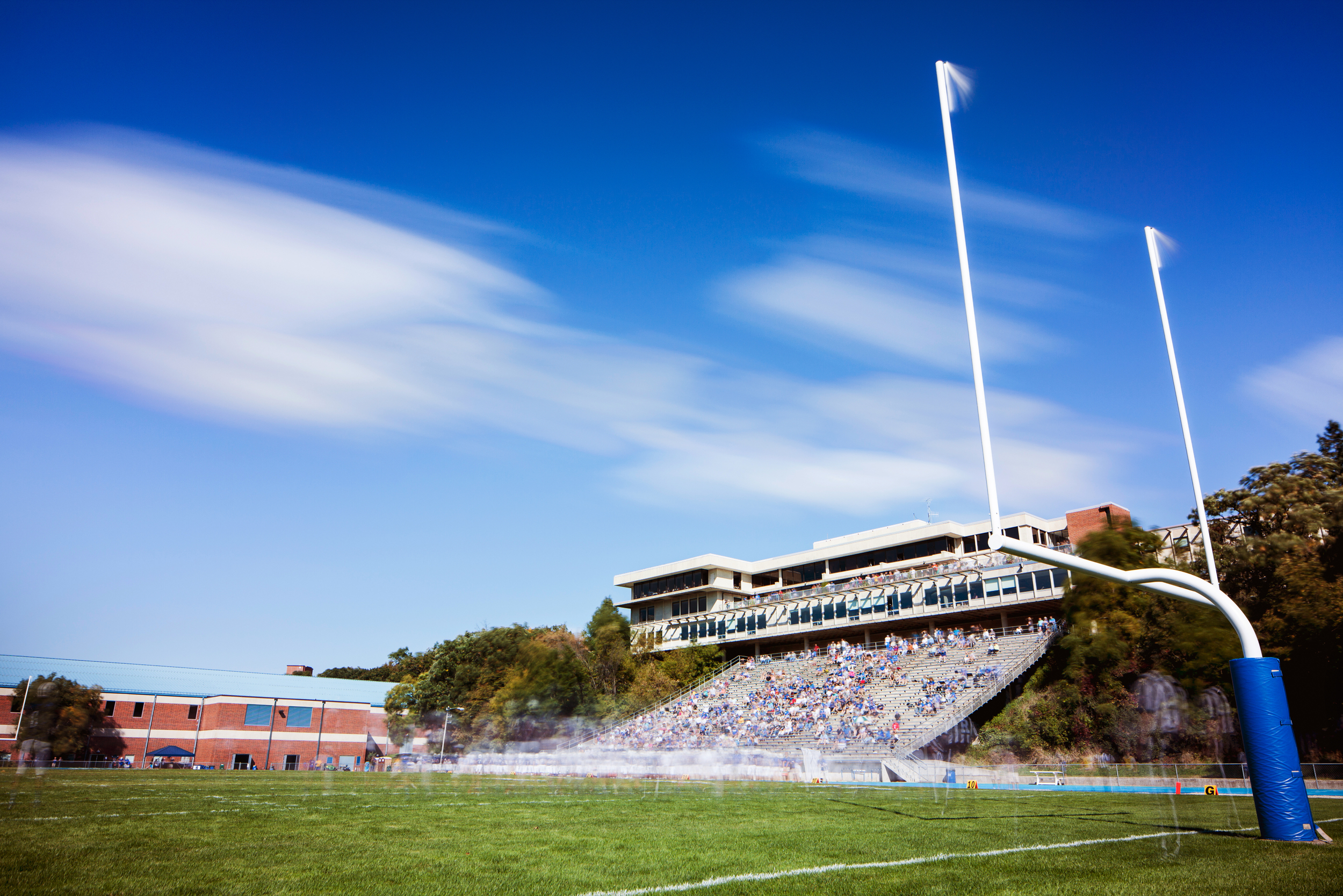 A long exposure of a Norse Football game taken in the Fall of 2014. Photo by Aaron Lurth