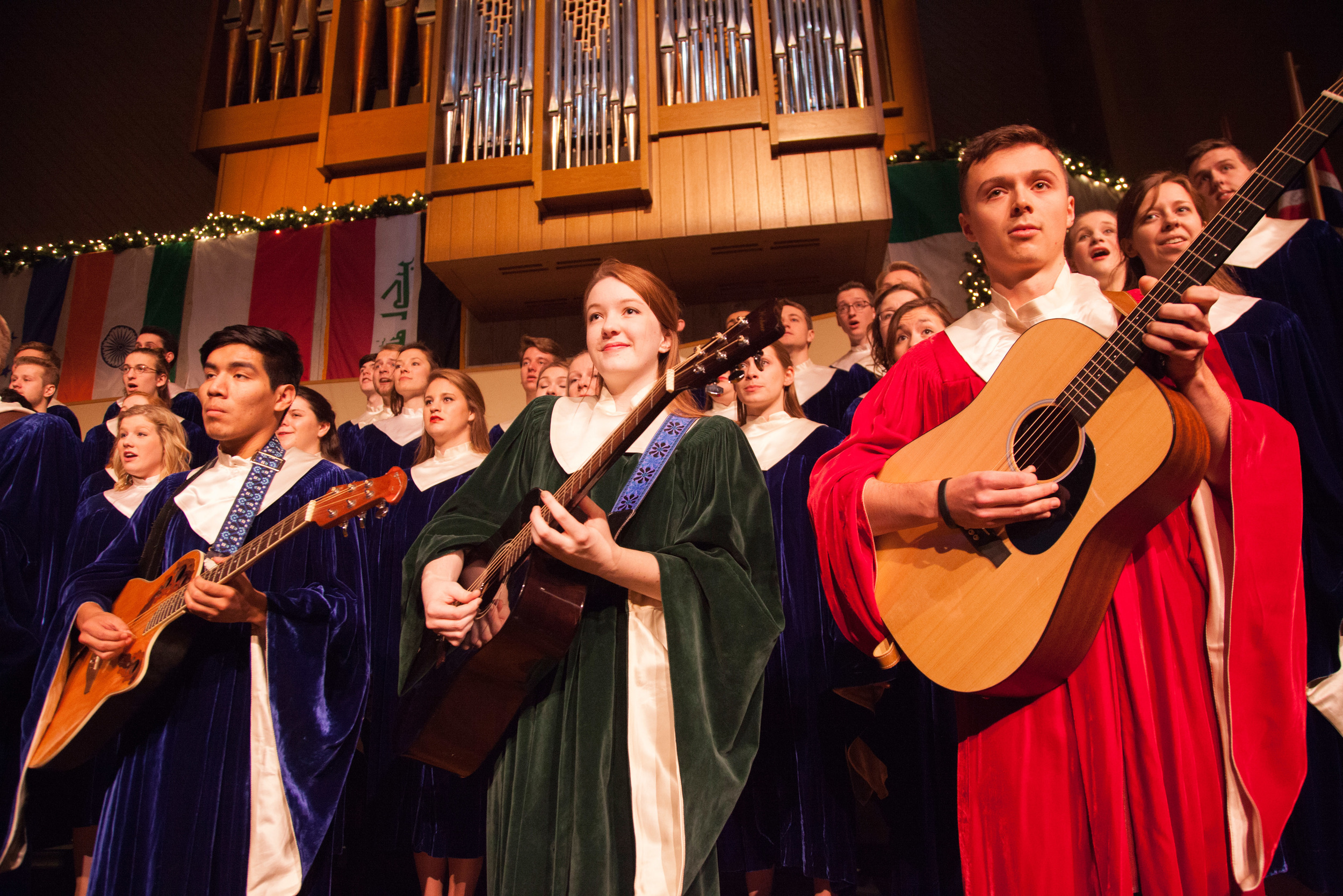 """Christmas At Luther 2015. The theme for this year's performance was Savior of the Nations, Come. This year's show consisted of a number of international pieces as well as """"traditional"""" western hymns."""
