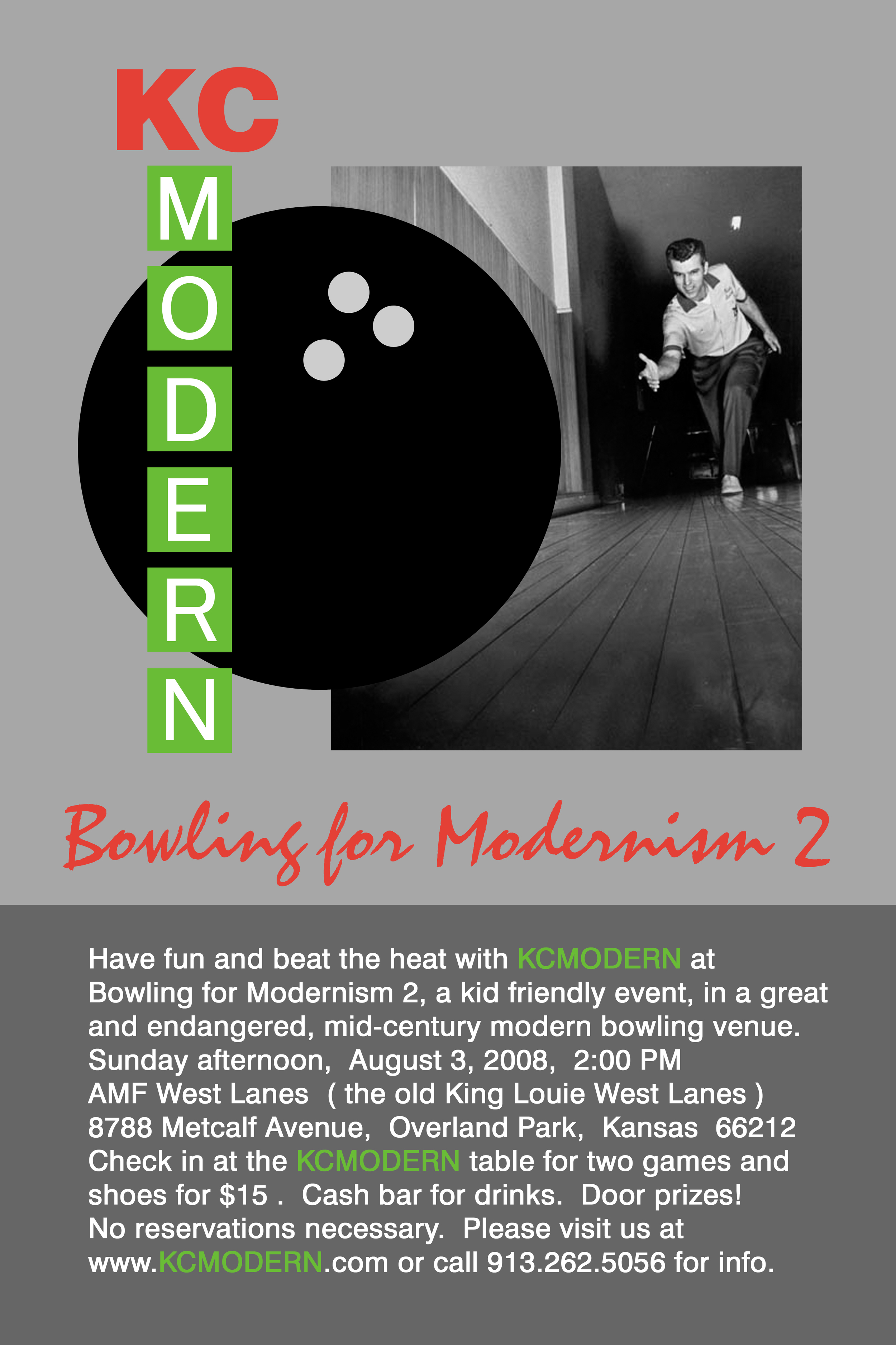 KCmodern Bowling for Modernism 2 Invite