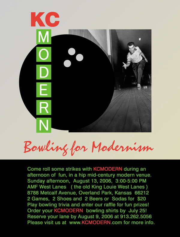 KCmodern Bowling for Modernism Invite
