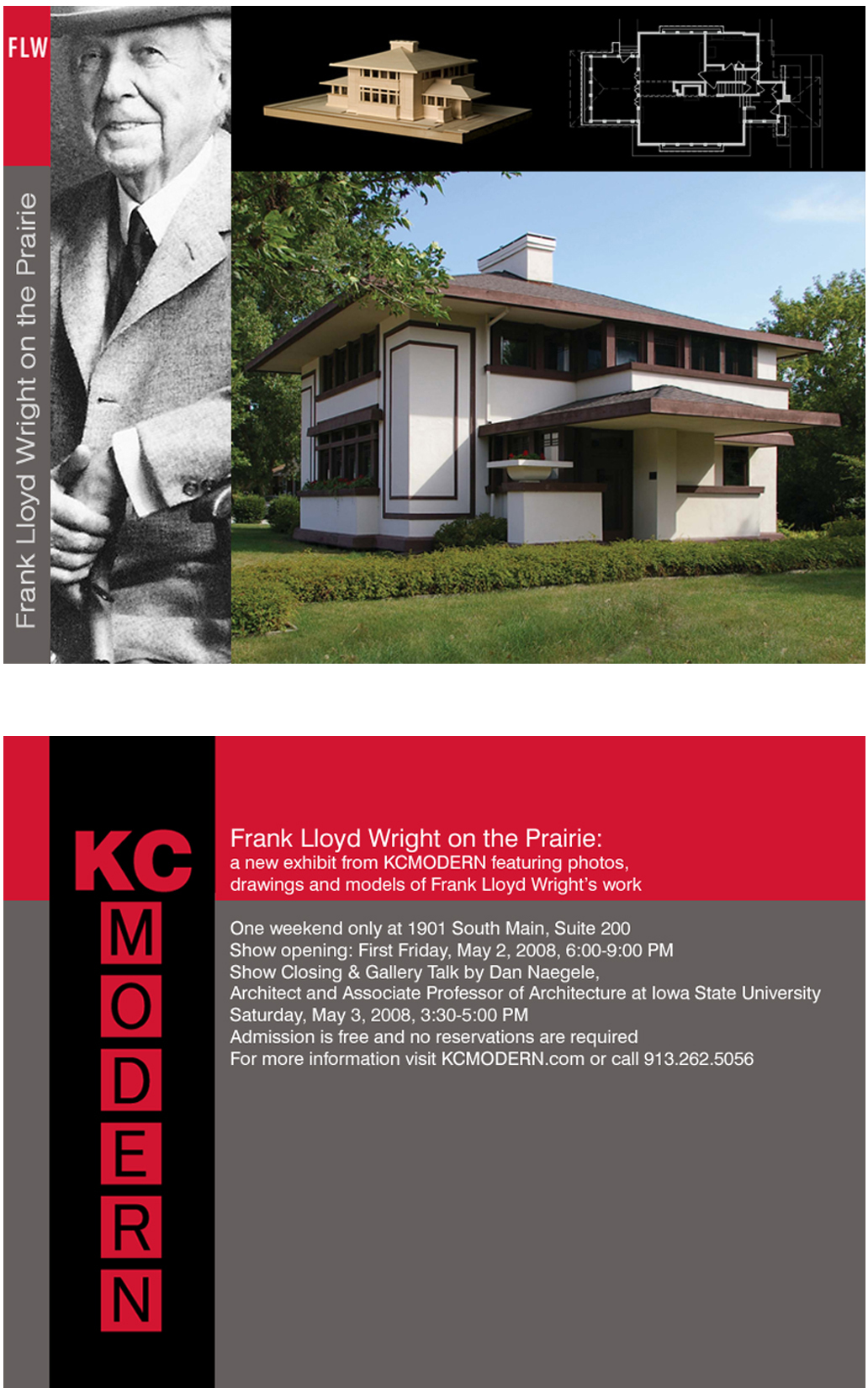 KCmodern Frank Lloyd Wright on the Prairie Invite