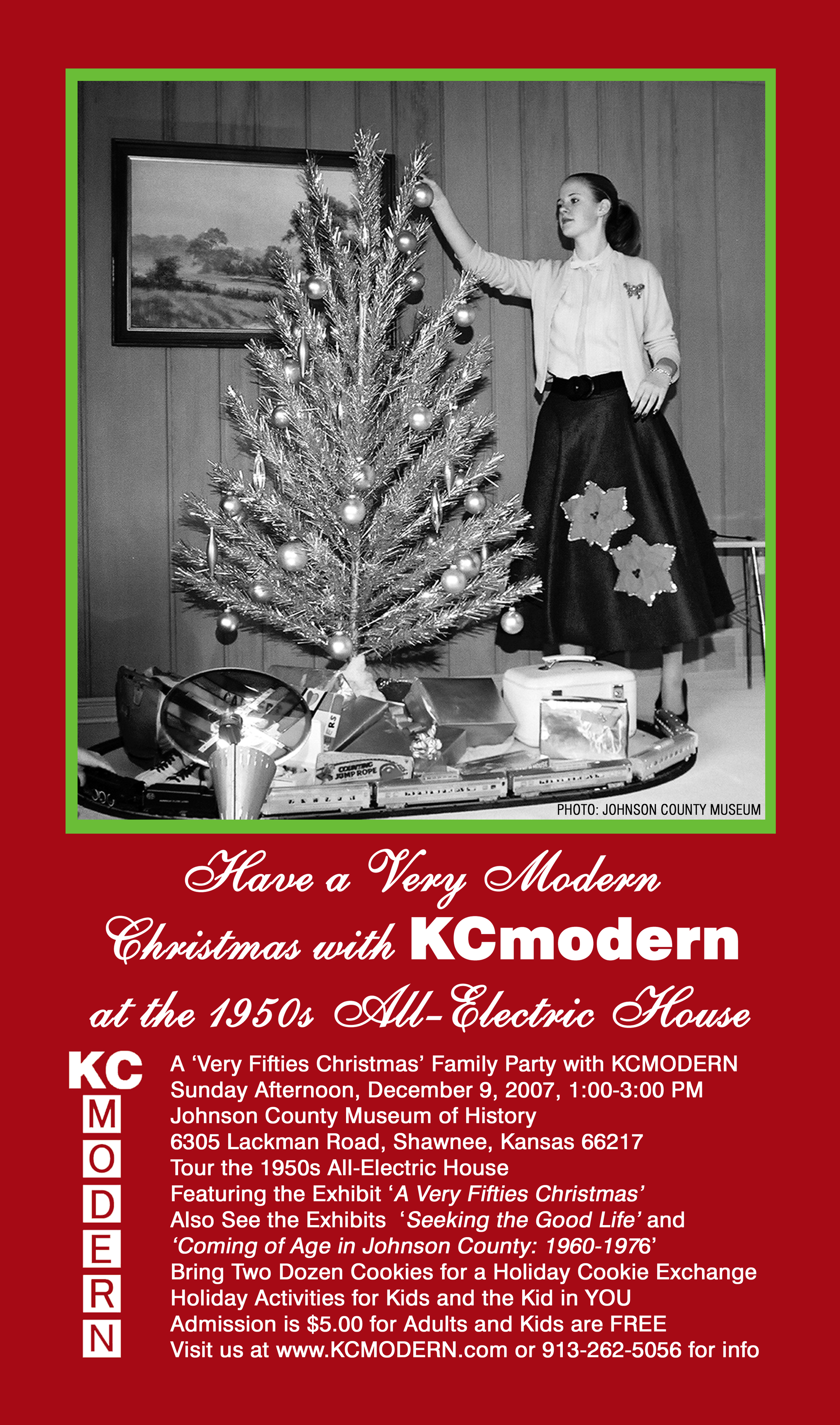 KCmodern Christmas 1950's All-Electric House Invite