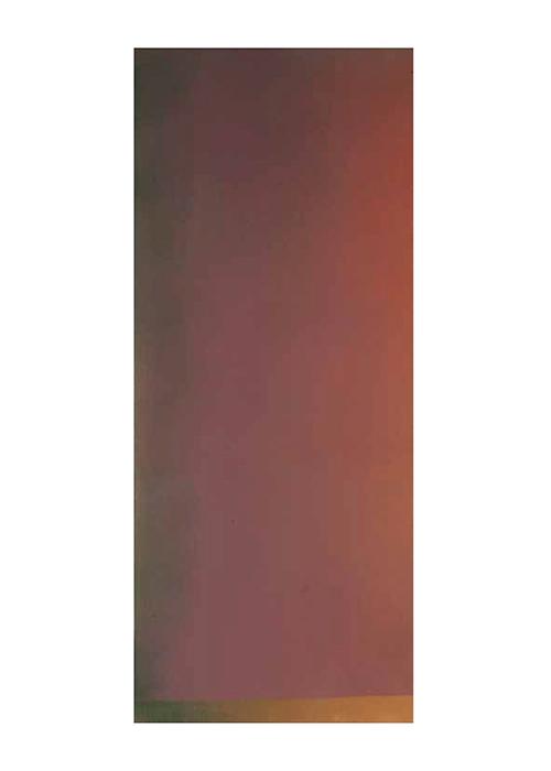 Jules Olitski  Implications,  1966  Acrylic on canvas 116 x 48 inches  (294.6 x 121.9 cm)