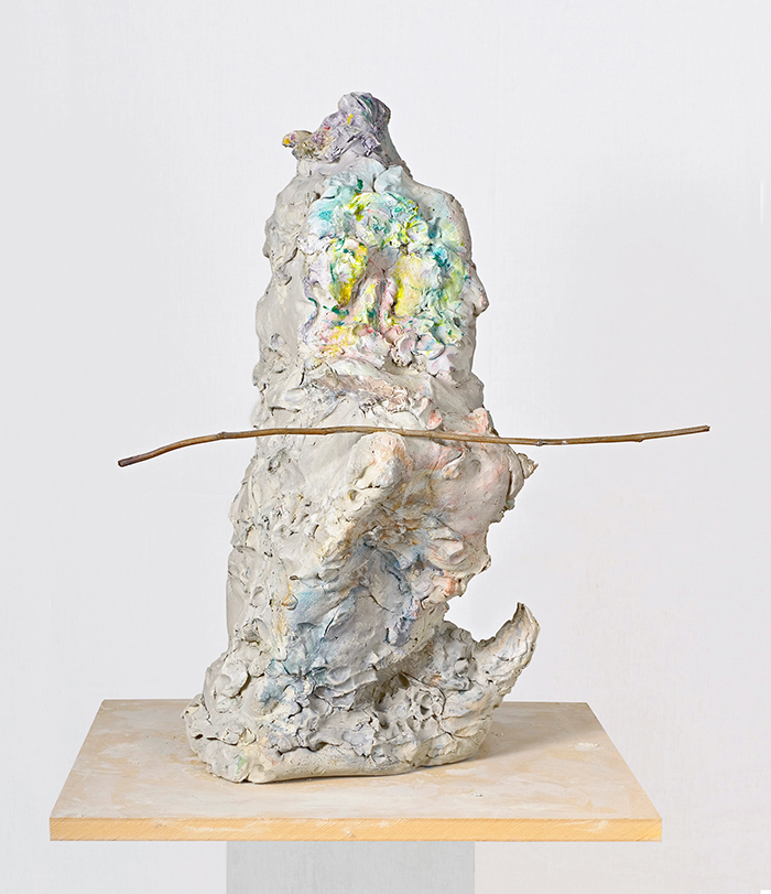 Rebecca Warren  Gilbertine,  2007  Painted re-inforced clay, painted mdf plinth  39 1/3 x 27 1/1 x 31 inches  (100 x 70 x 79 cm)
