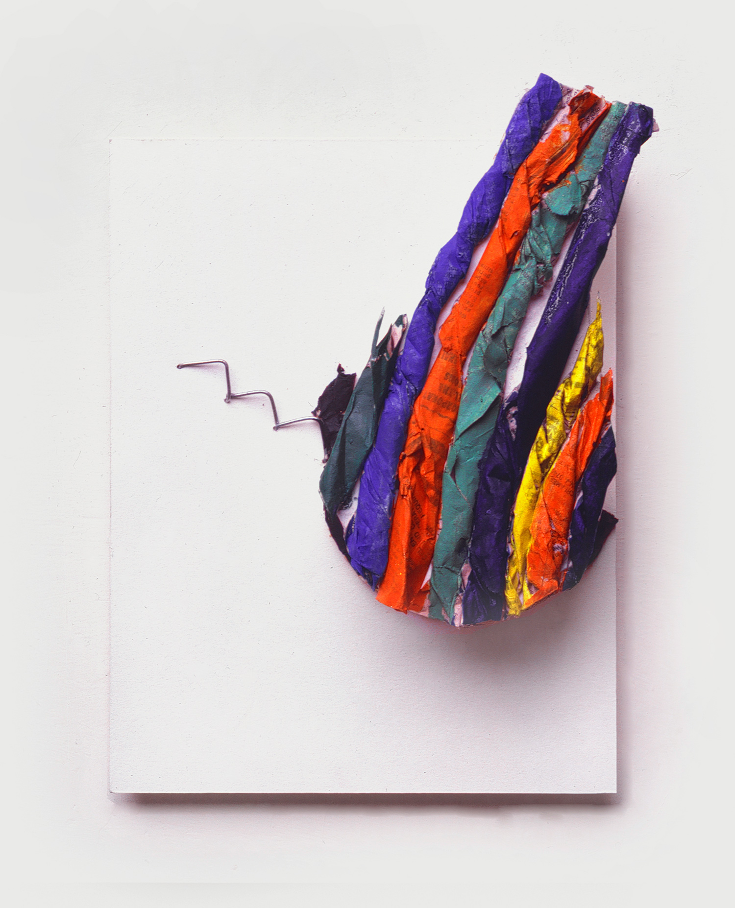 Richard Tuttle  Z 3,  1981 Paper, metal, wood, watercolor on paper mounted on wood 11 x 8 1/2 Inches  (28 x 22 cm)