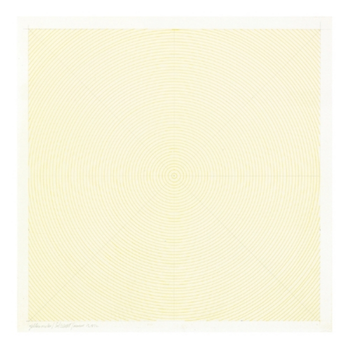 Sol LeWitt  Yellow Cirlces,  1972 Ink and graphite on paper 13 x 13 inches  (33.02 x 33.02 cm)