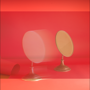 Jeannette Montgomery Barron  RED MIRROR #2 , 2018 available in 20 x 20 or 40 x 40 inches Edition of 6 + 3 APs