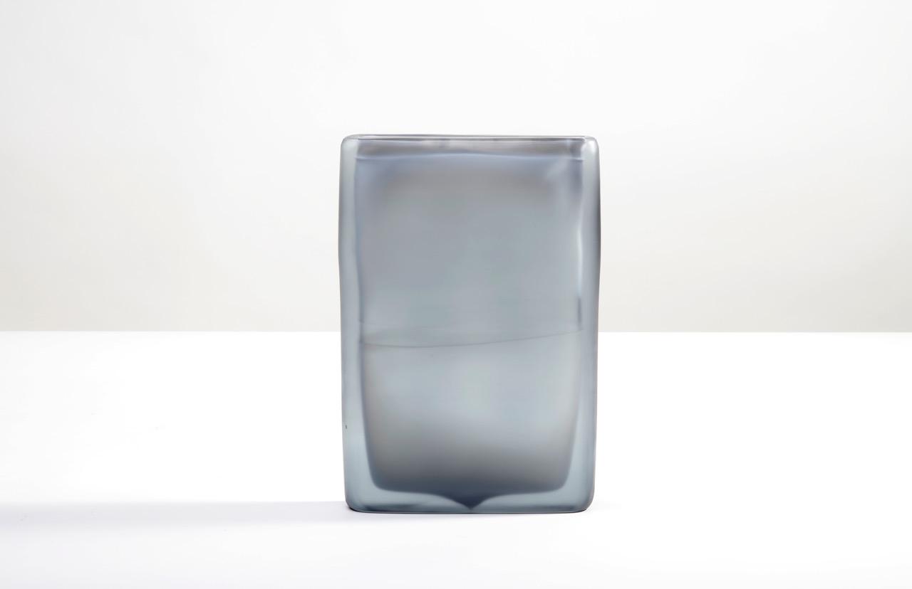 Laura de Santillana Quartet 3, 2018 hand blown compressed shaped glass 13 1/8 x 8 7/8 x 1 3/4 inches (33.5 x 22.5 x 4.5 cm)