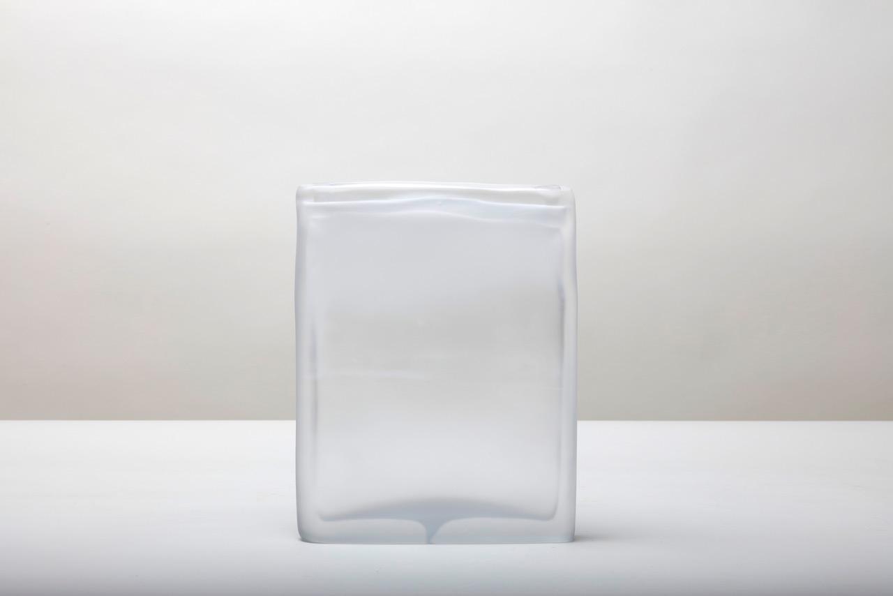 Laura de Santillana  Quartet 2 , 2018 hand blown compressed shaped glass 11 x 8 5/8 x 1 1/2 inches (28 x 22 x 4 cm)