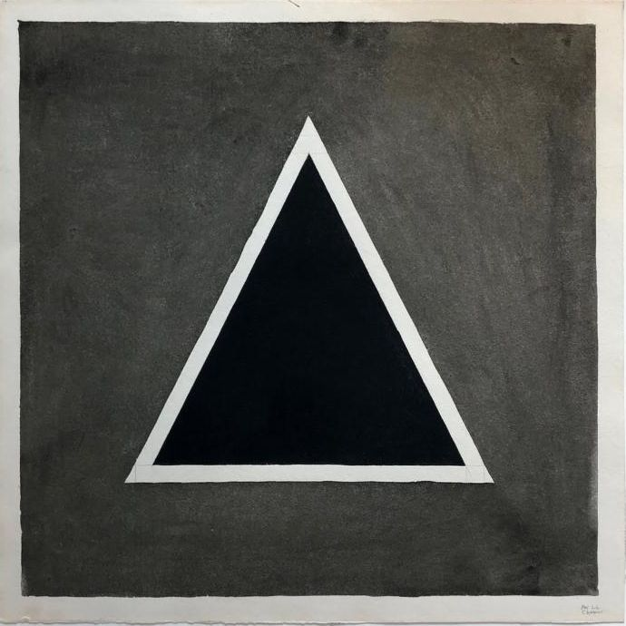Sol LeWitt,  Triangle , 1980, gouache on paper, 21 1/2 x 21 1/2 inches (55 x 55 cm)