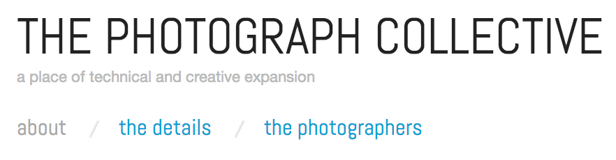 The Photograph Collective - Header