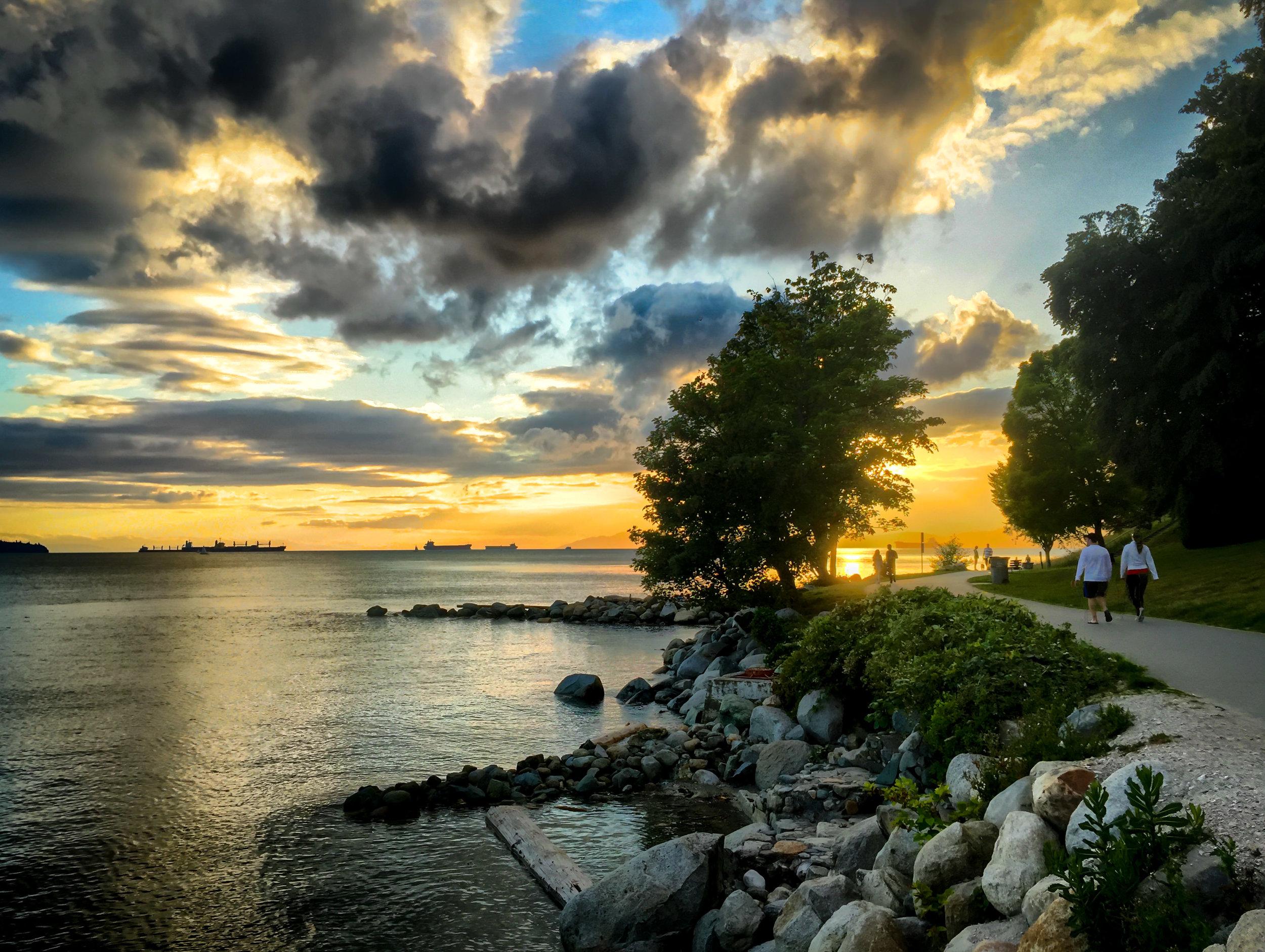 Stanley Park Sunset