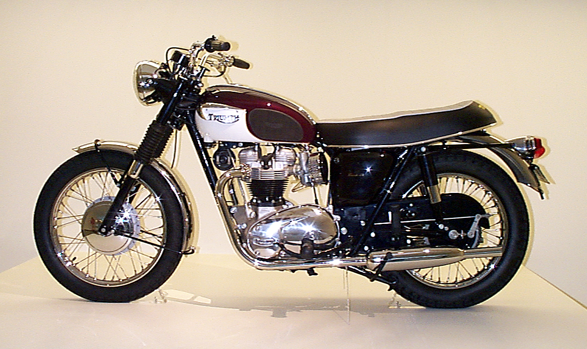 "1967 Triumph Bonneville T120 at ""The Art of the Motorcycle"" in 1998"