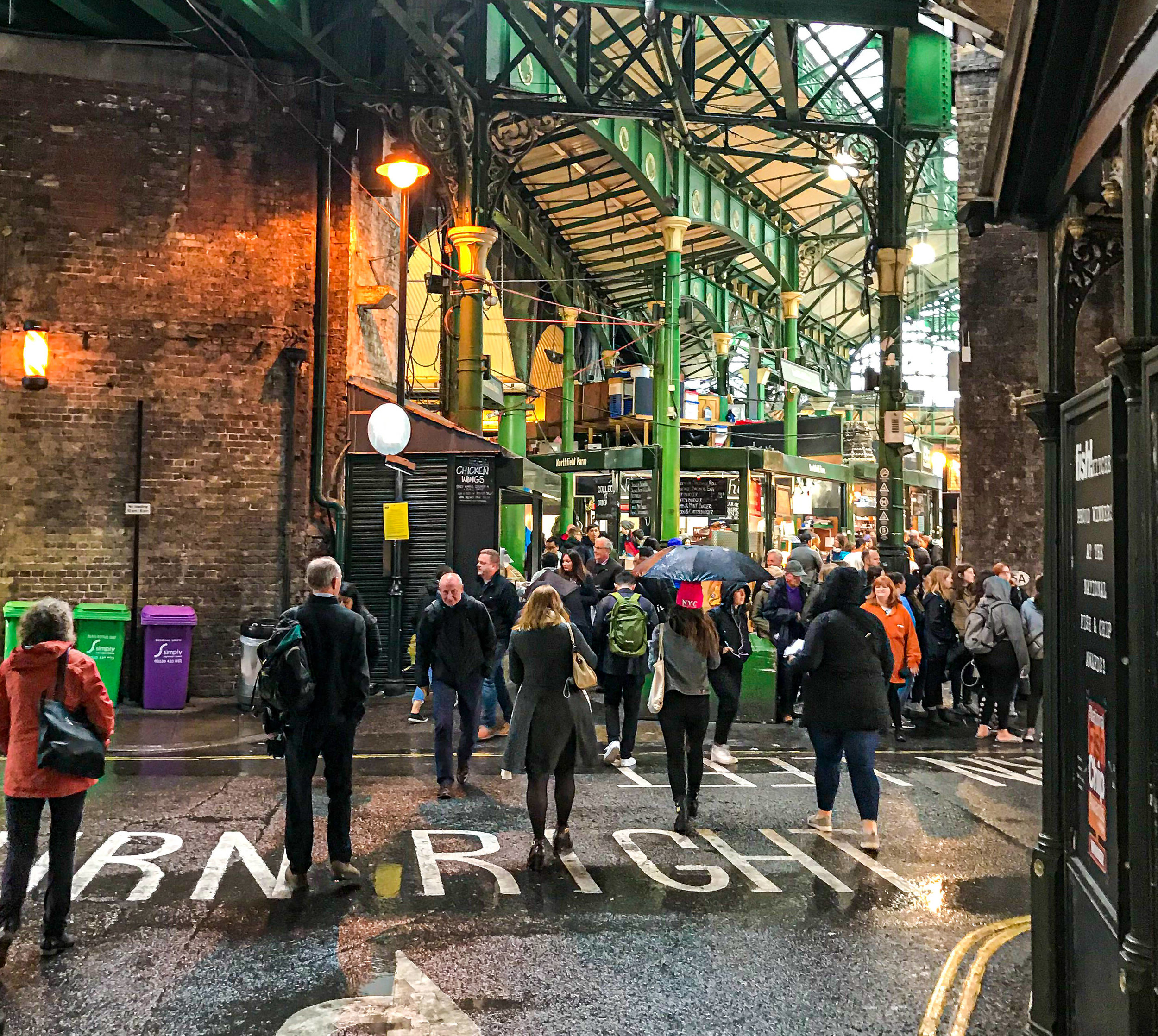 One entrance to Borough Market. It's like an outdoor version of NYC's Chelsea Market.