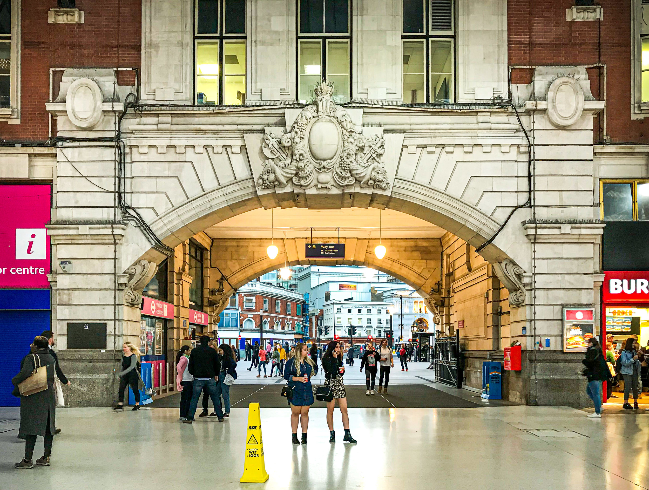 The main entrance to Victoria Station where most of my days began and ended
