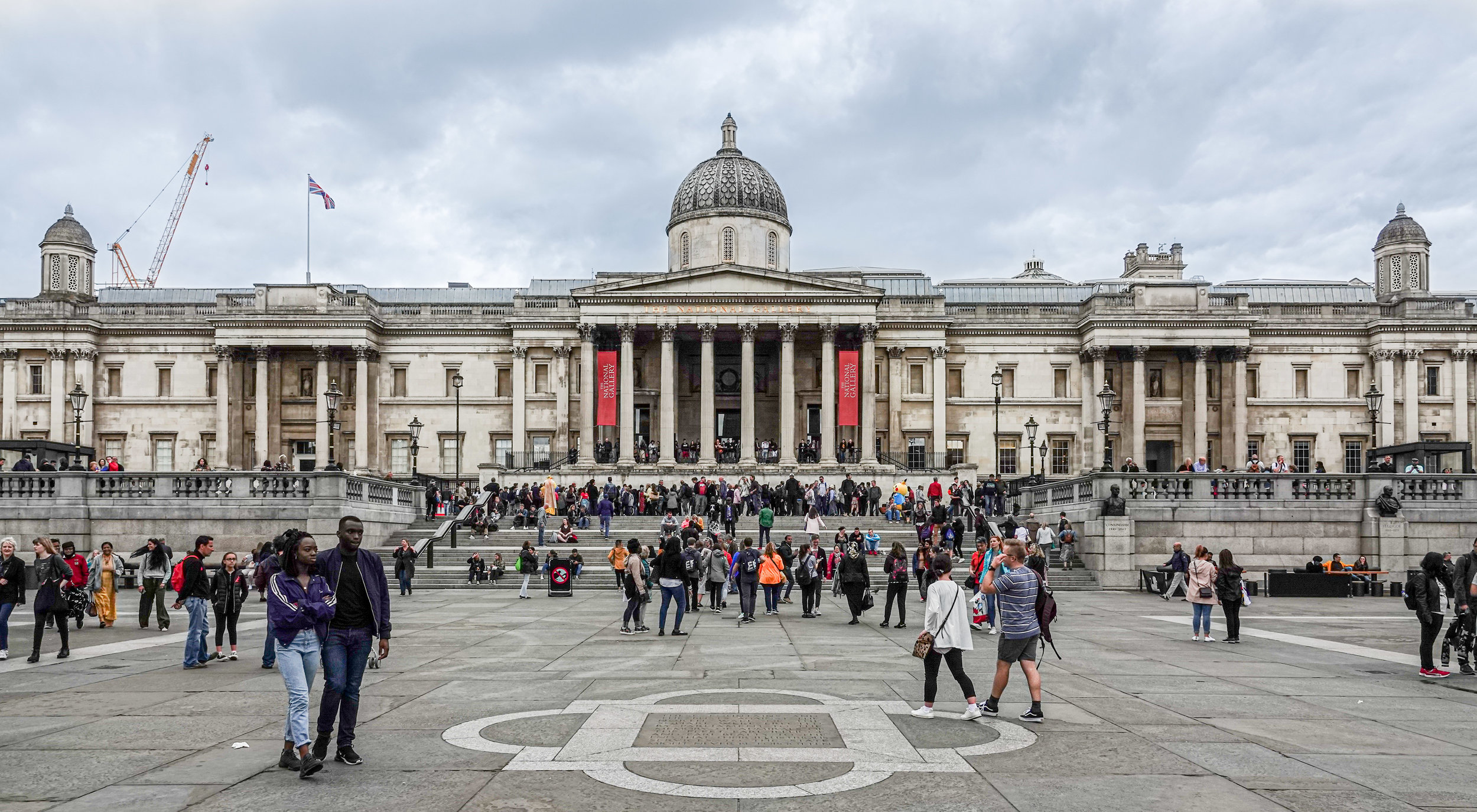 The National Gallery as seen from Trafalgar Square