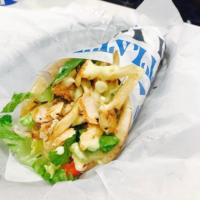 Chicken gyro pita #nickthegreek #sanjose #redwoodcity #greekfood #bayarea #foodblog #foodie