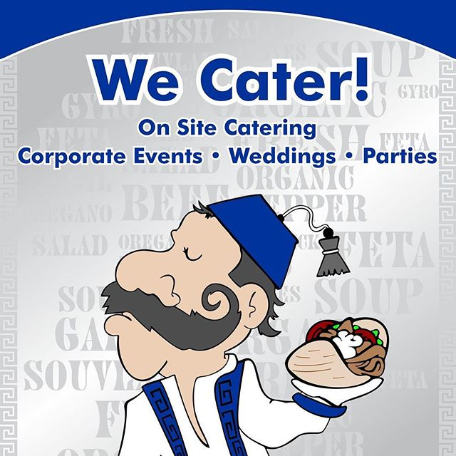 Email us at catering@nickthegreeksj.com #nickthegreek #catering #greekfood #sanjose #sunnyvale #redwoodcity #greek #gyros #souvlakia