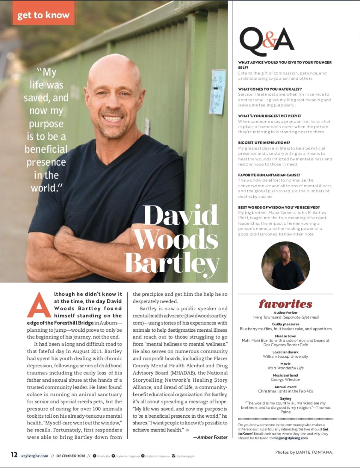 Appeared In Style Magazine, Roseville, Granite Bay, Rocklin in December 2018.