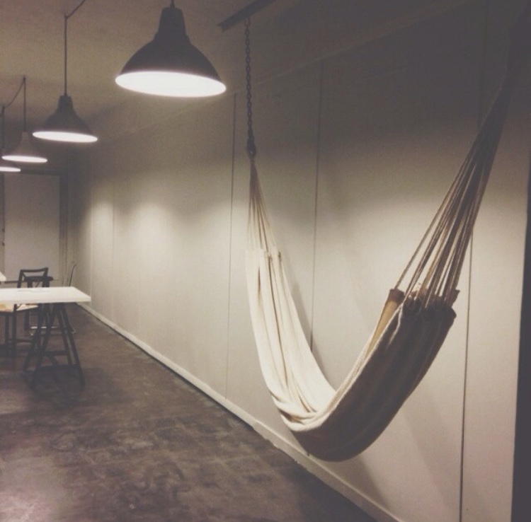 A hammock was a most in the studio with those long hours