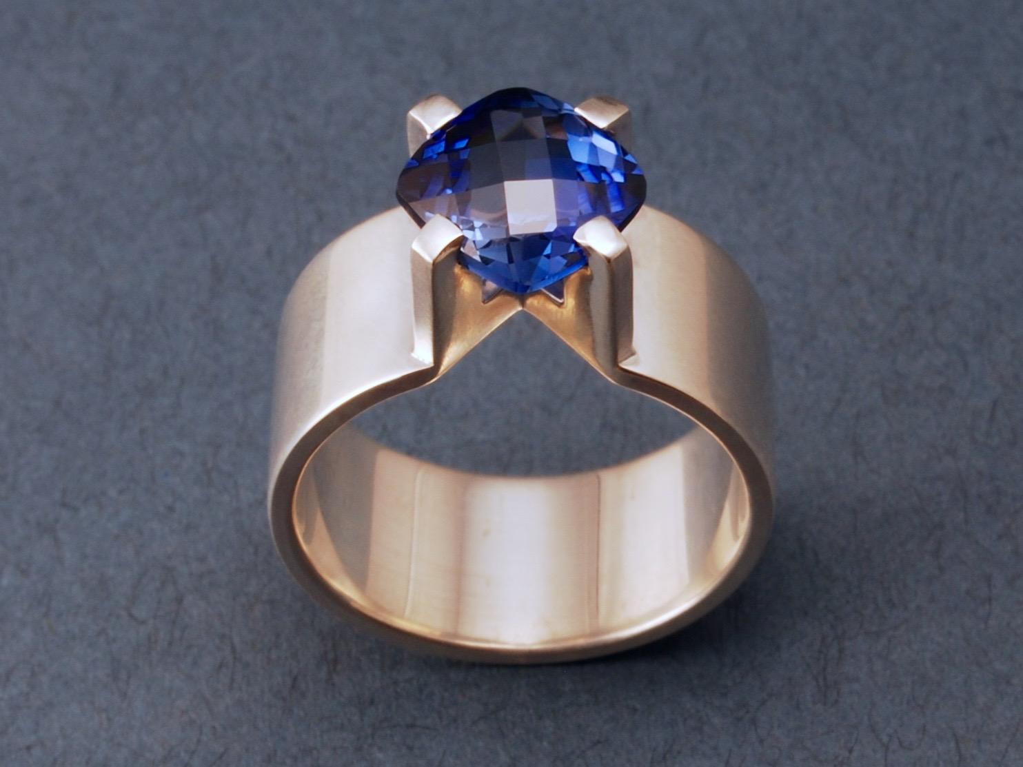 sapphire bias ring