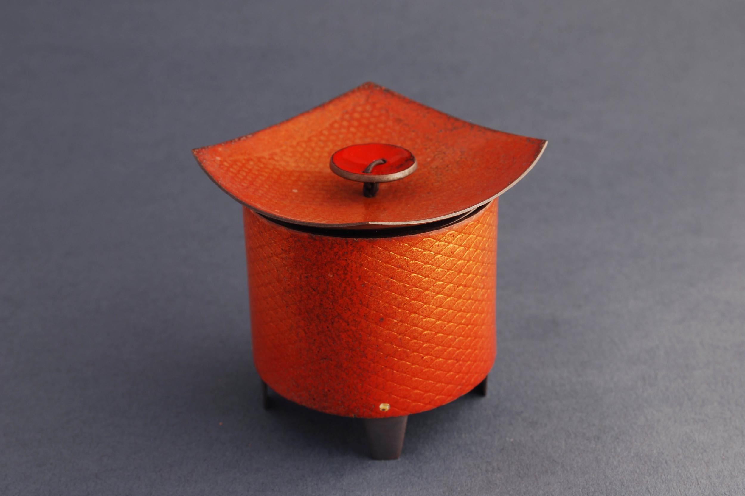 orange salt box
