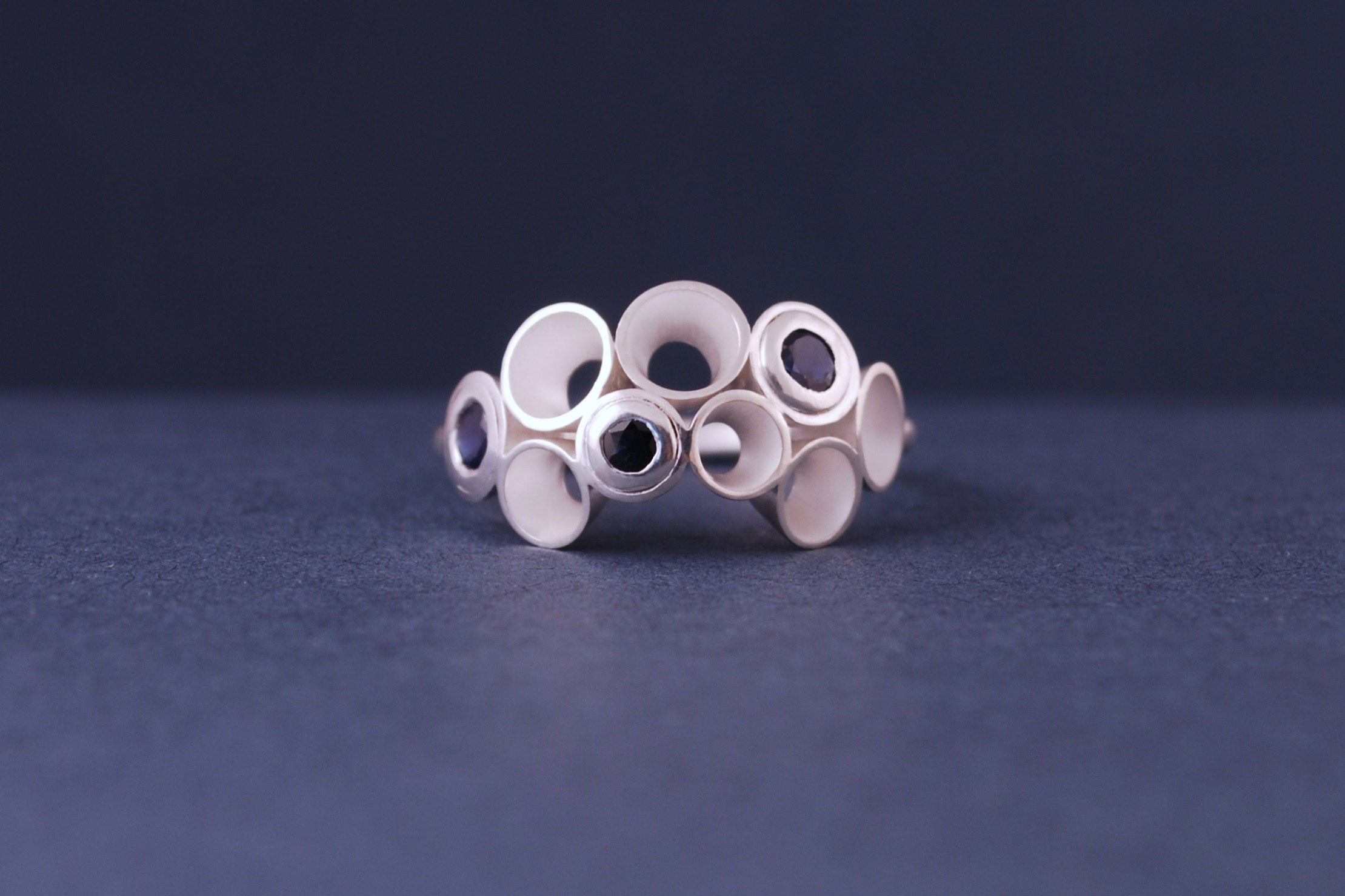 sapphire froth ring