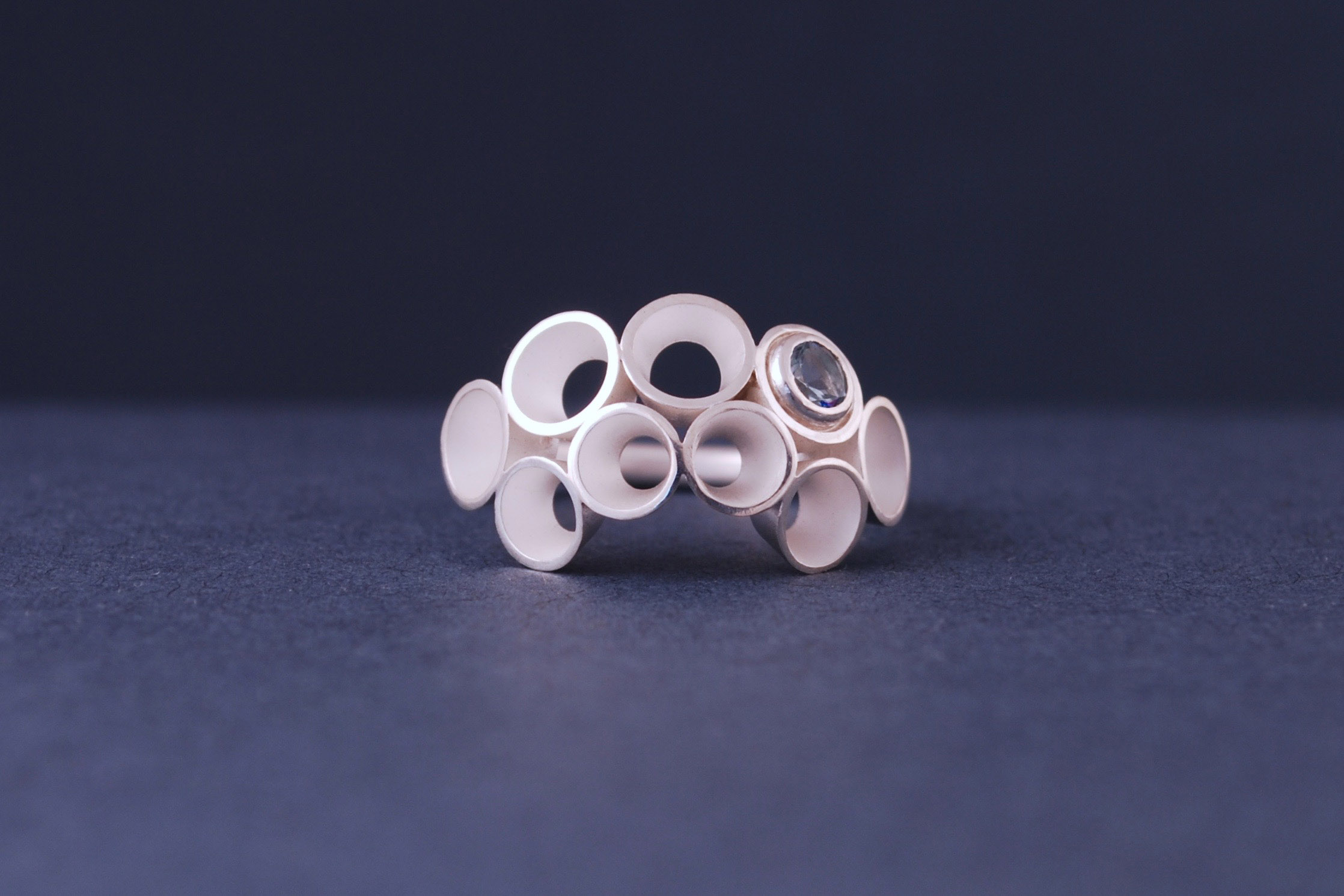 aquamarine froth ring
