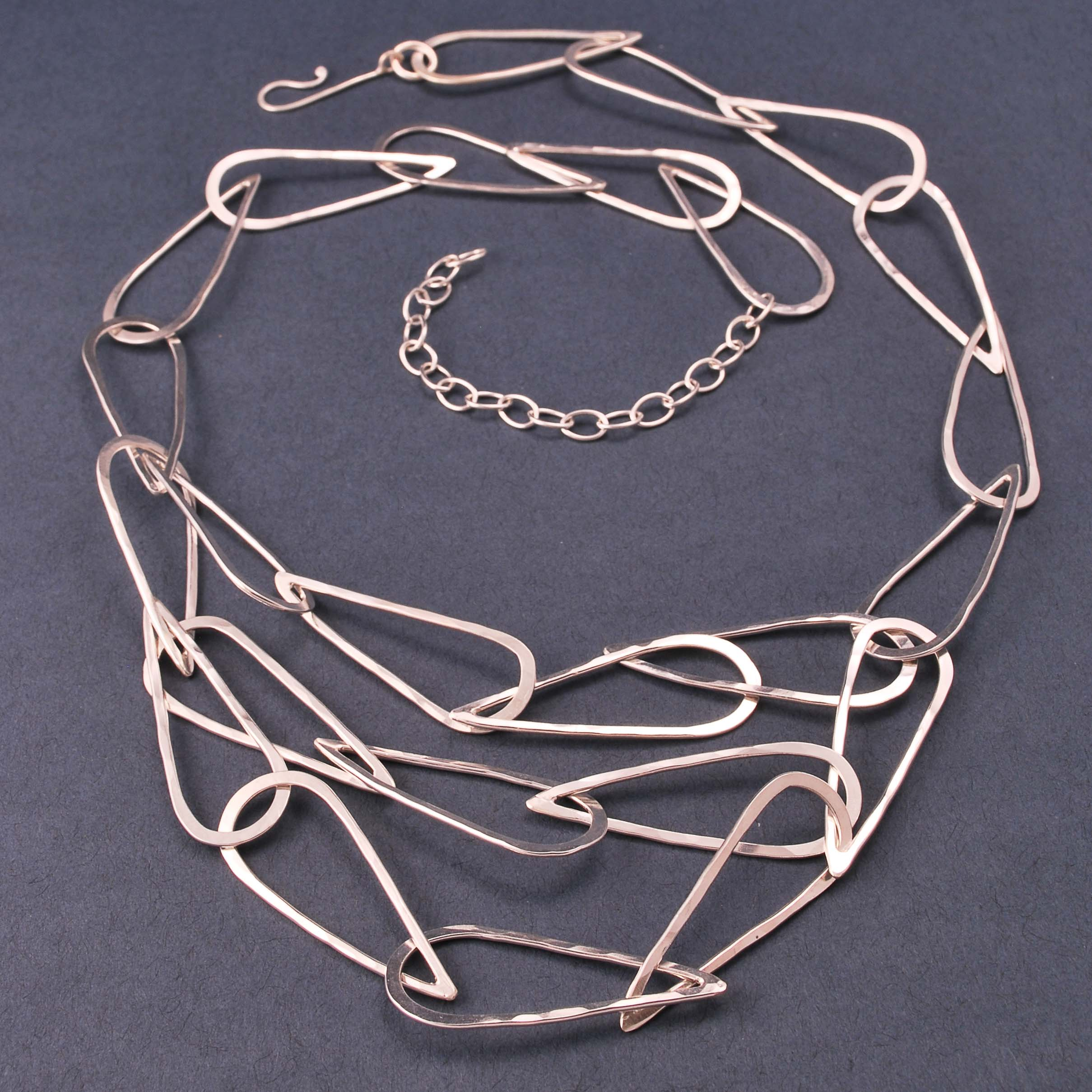 layered teardrop chain