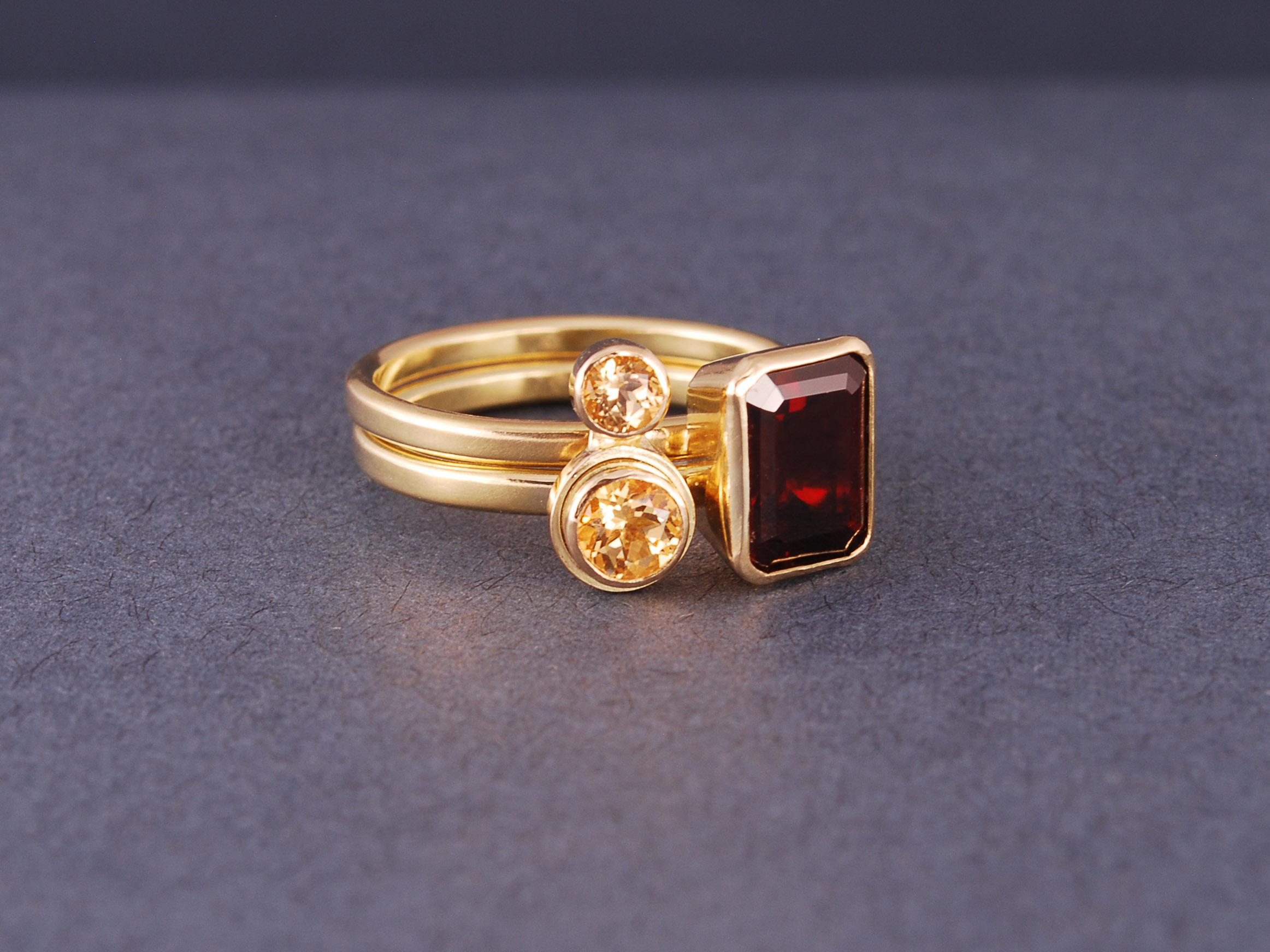 custom gold stacking rings
