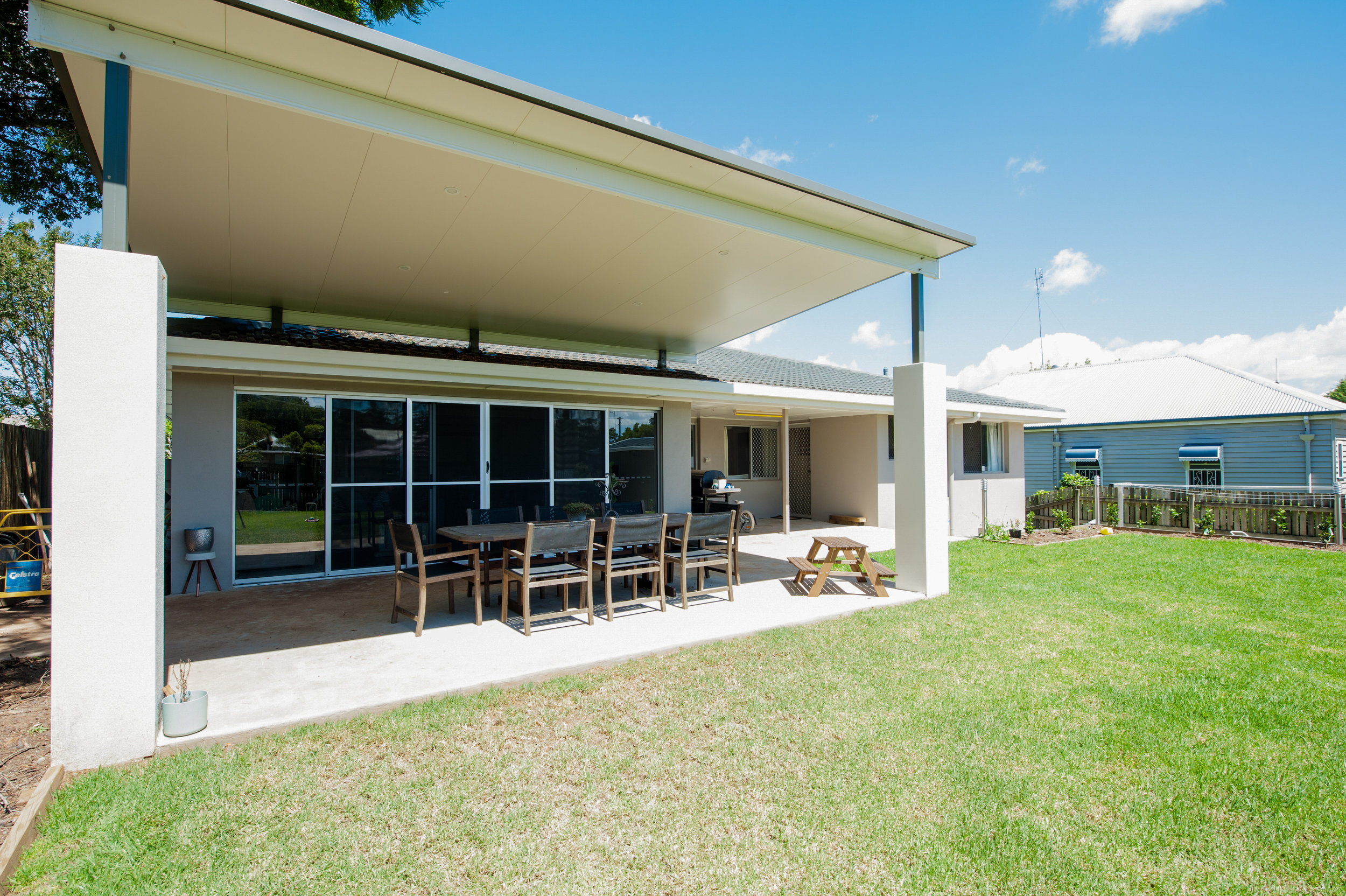 Insulated Fly-Over Patio Roof — Prestige Patios & Outdoors