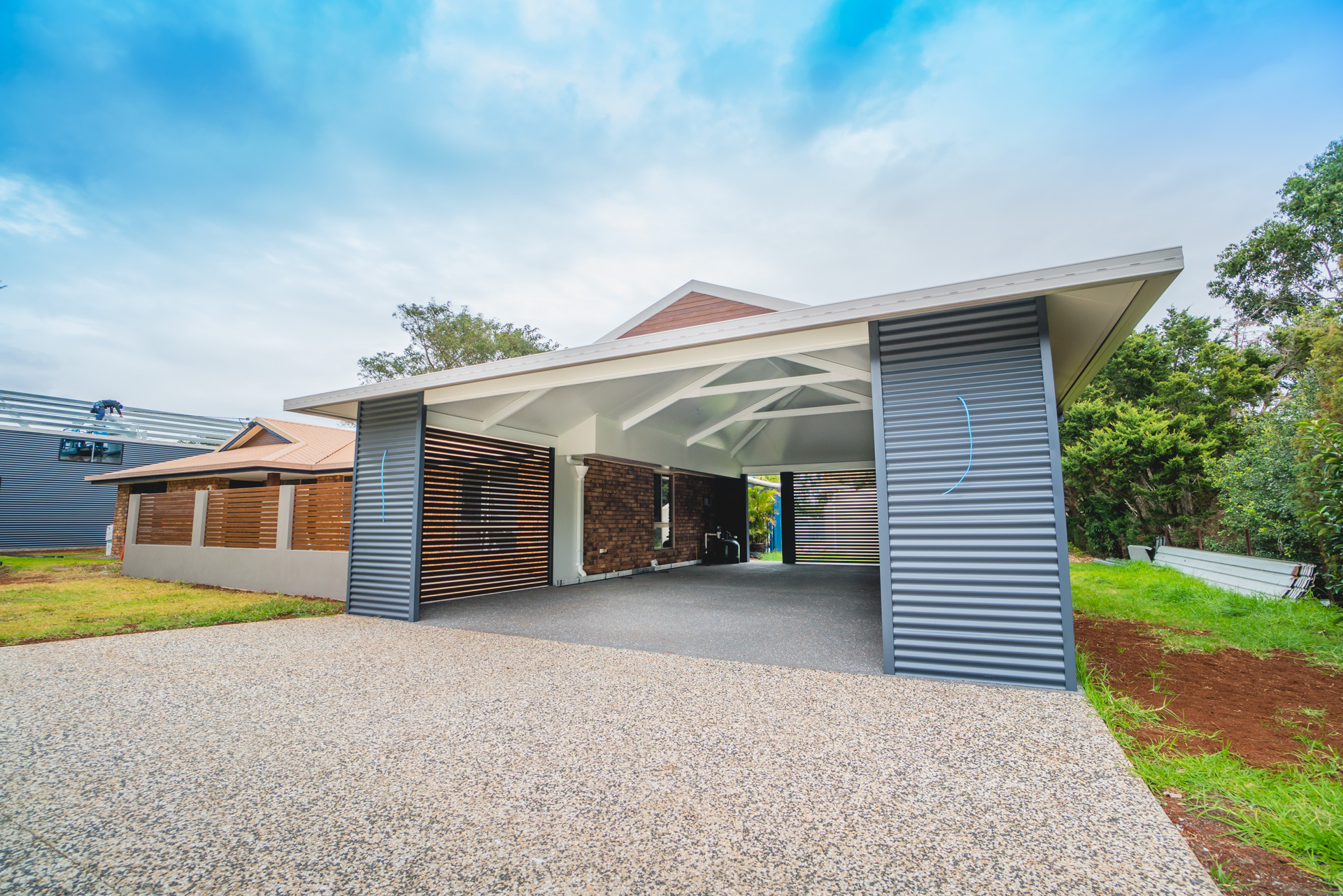 What's It For? - You want the size of the carport to suit what's underneath. Are we covering a car, a boat, a caravan, a prime-mover? This is a good starting point when thinking about design.