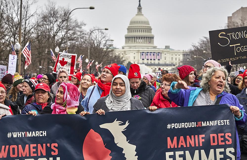 Women's March on Washington, Jan 21, 2017 -CANADIAN DELEGATION Photographer: Johanna Stosik Copyright 2017