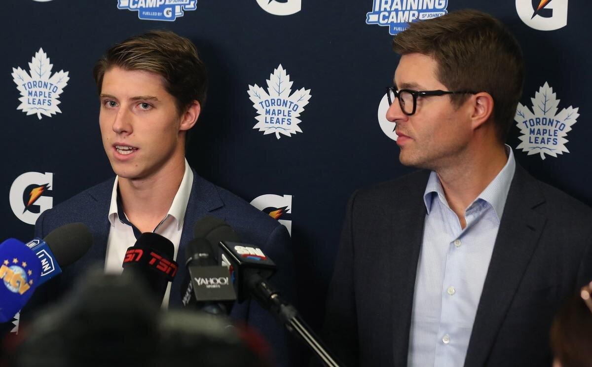 Mitch Marner, Toronto GM Kyle Dubas