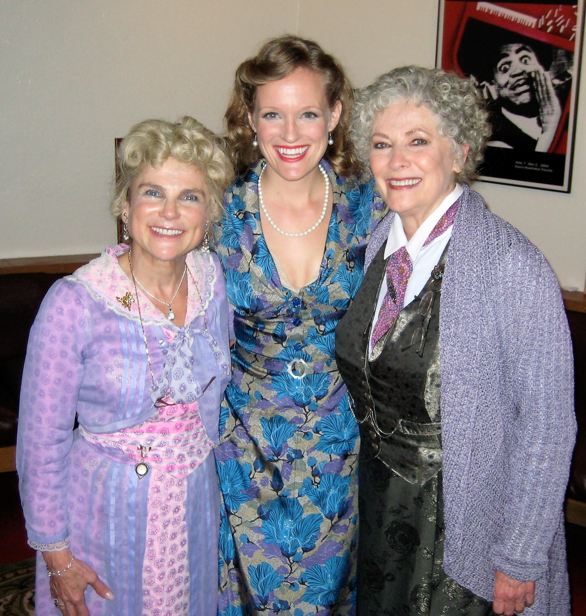 Tovah Feldshuh, Abbey Siegworth, and Betty Buckley backstage in Arsenic & Old Lace at Dallas Theater Center