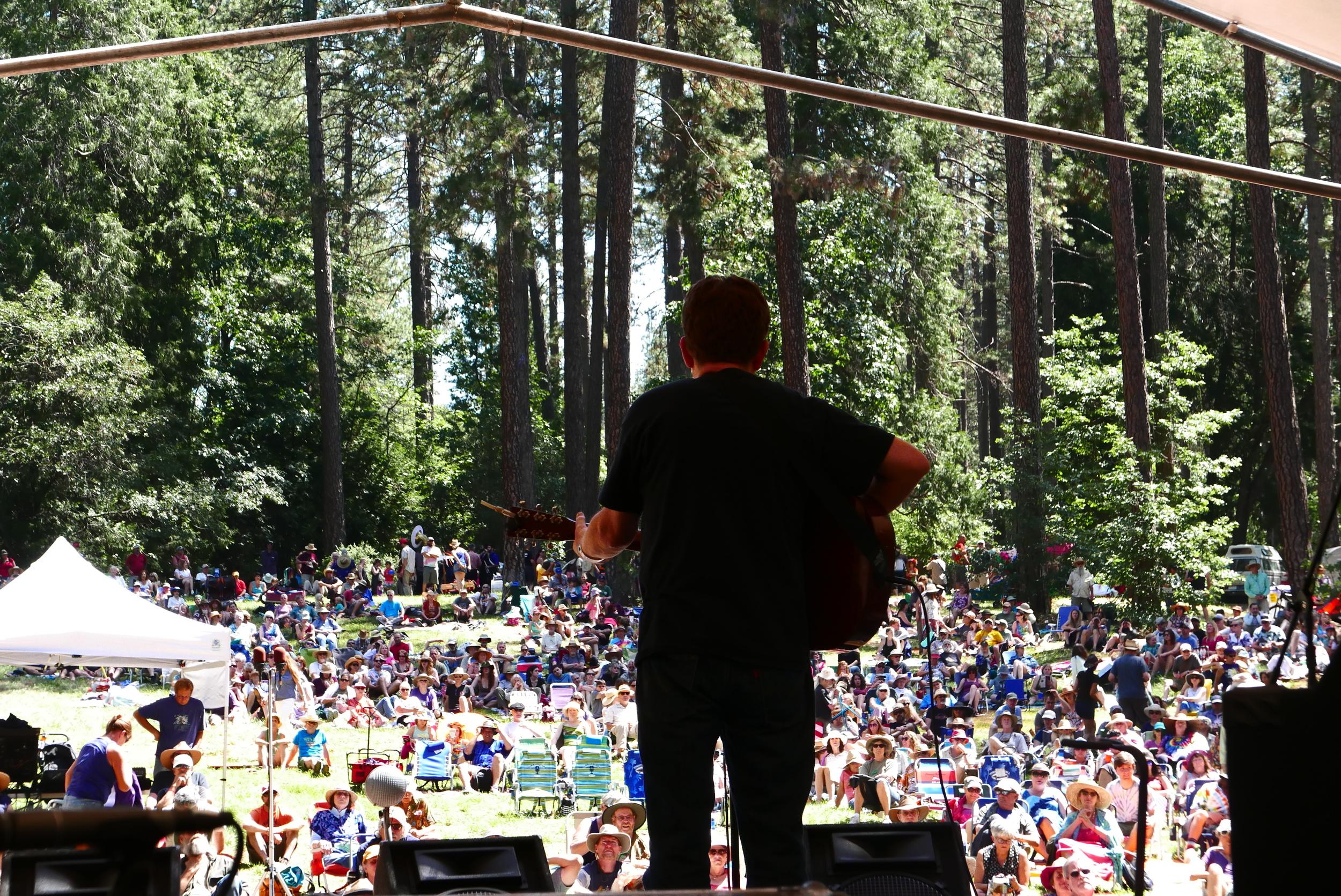 Tim O'brien at the Sunday Revival, Strawberry Music Festival, Spring 2016, Grass Valley, CA. Photo: Gregg McVicar