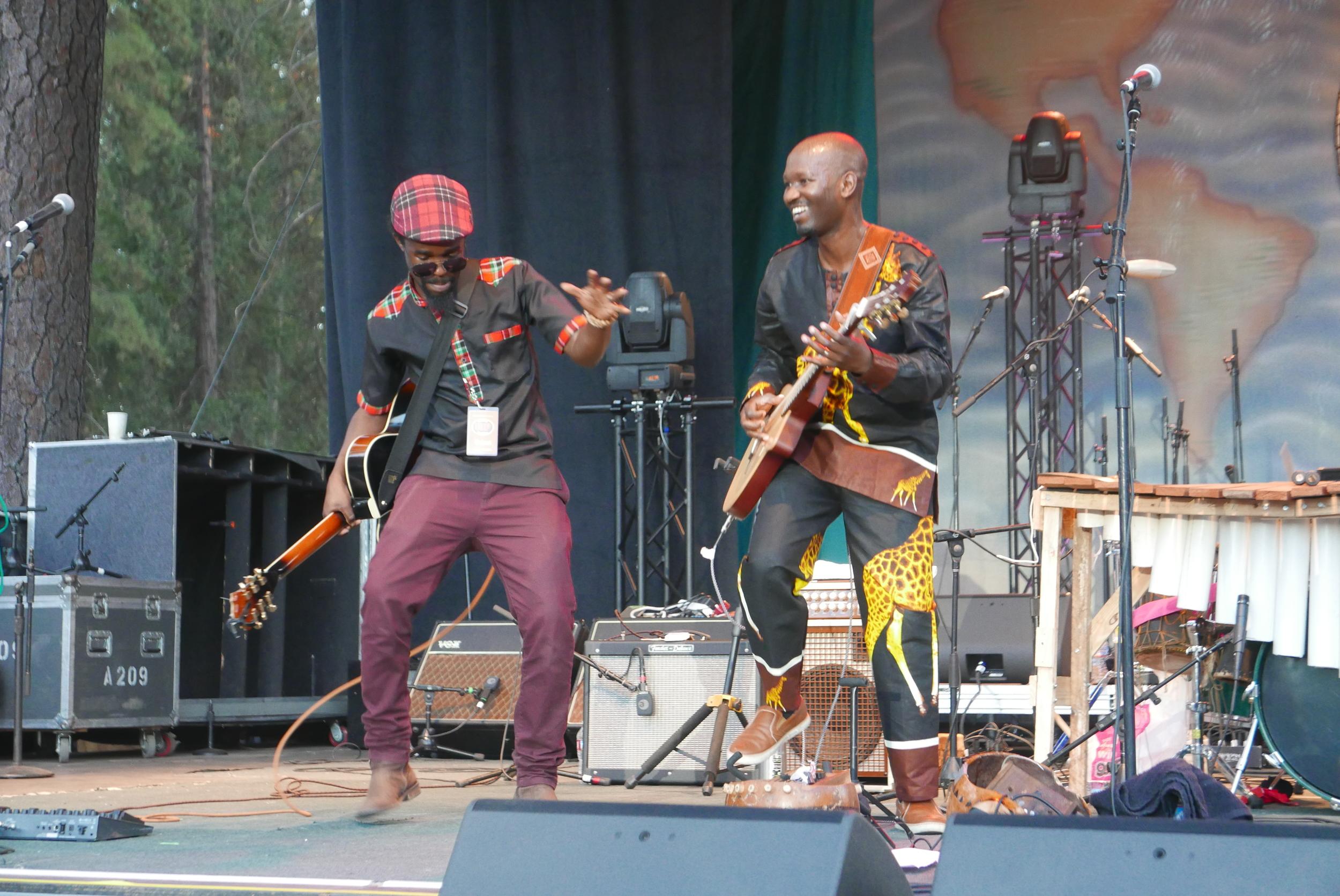 Peter Mawanga (right)