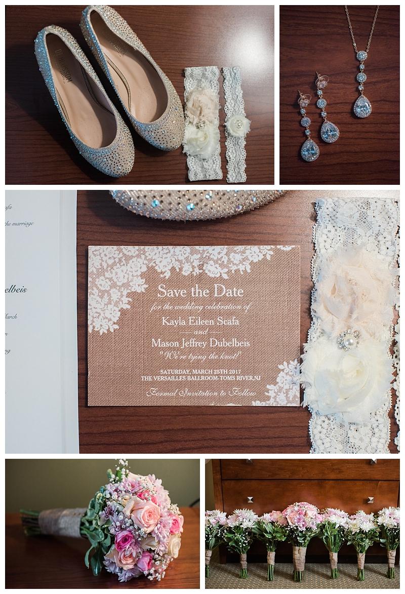 Bride's shoes by  David's Bridal