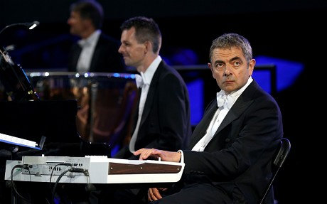 Rowen Atkinson provided a brief moment of comic relief in an otherwise lackluster opening ceremony. Photo: The Telegraph