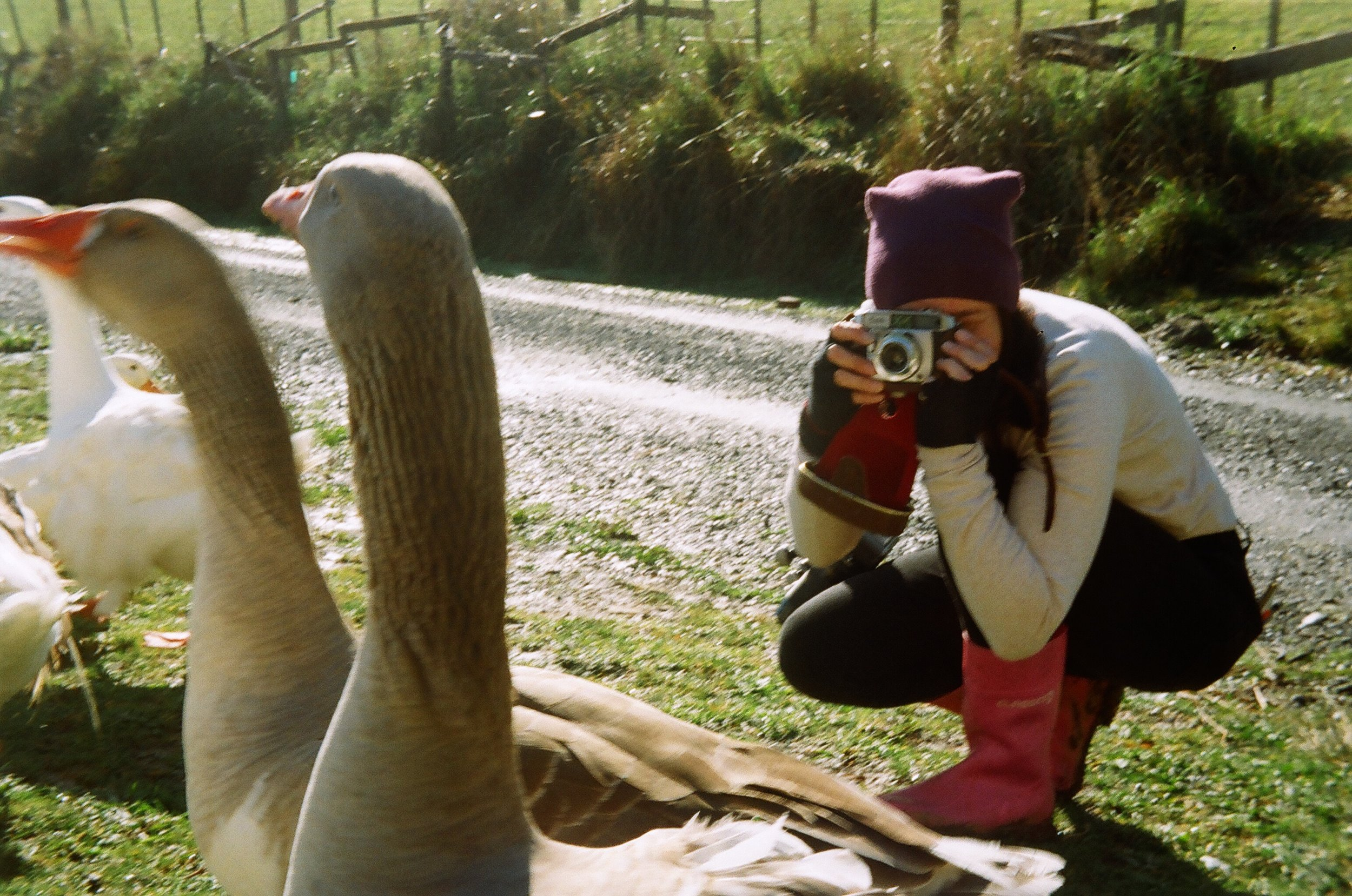 Here I am using the Balda camera, thank you for the photograph Nikki (taken with the Kodak ColorSnap 35)