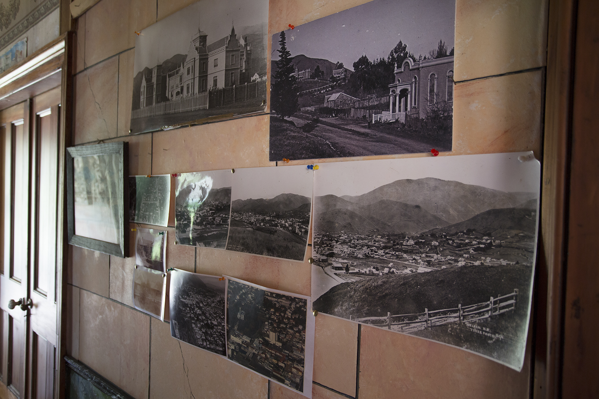"""Historic photographs of Nelson Province adorn the walls of """"The Palms"""""""
