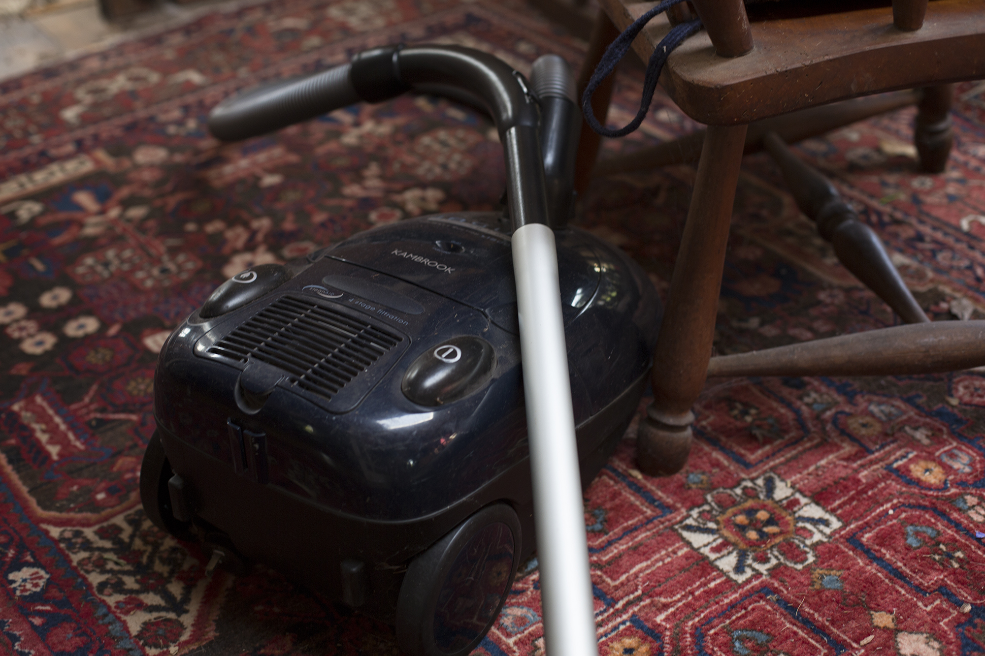 """Keep your vacuum cleaner out all times, strategically placed for maximum exposure to visitors. This way you can say to them """"Oh I was just about to vacuum"""""""