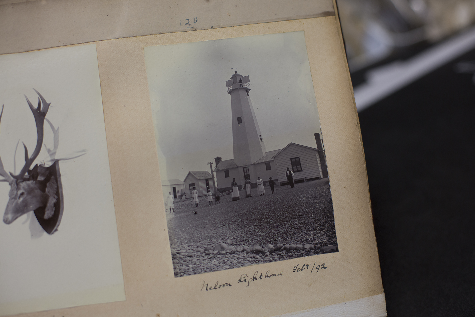 This page is from a wonderful photo album collection dating back to the late nineteenth century. Nelson Lighthouse 1892