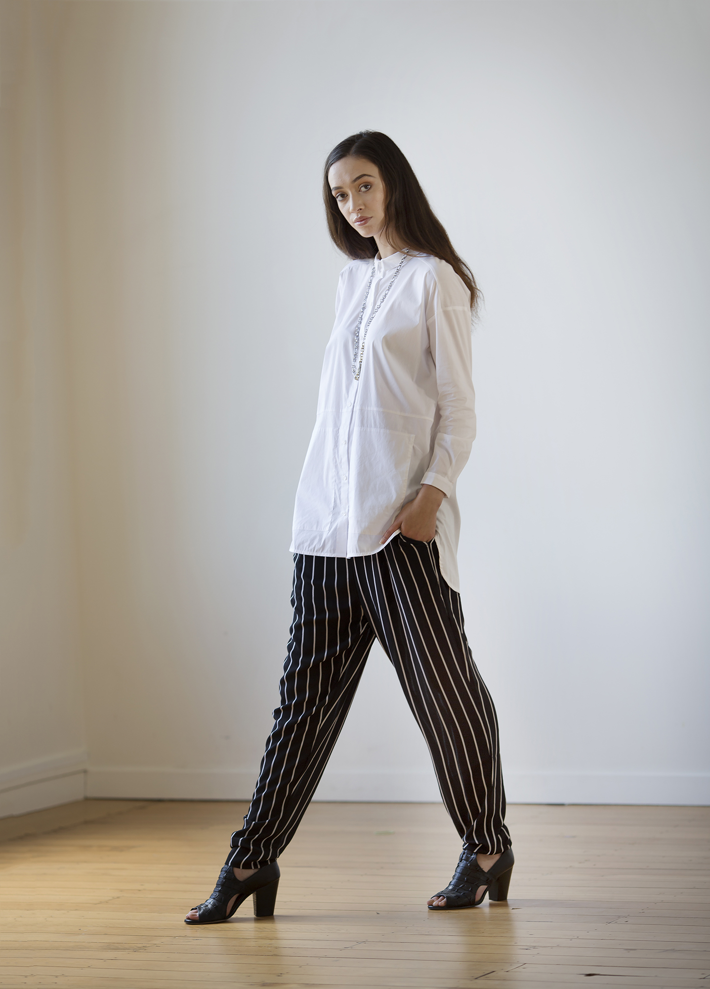 Trousers from Beetees, shirt, shoes and jewellery from Shine.