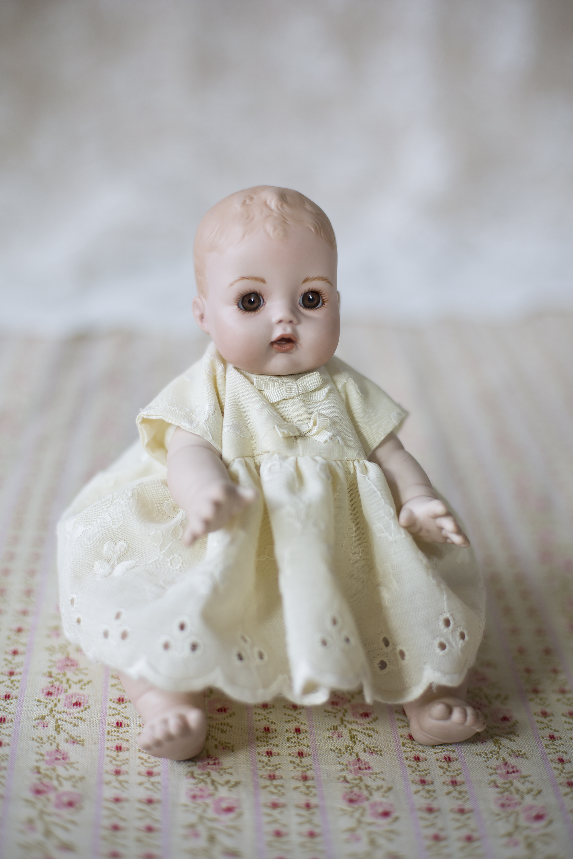 Porcelain doll, gift to Judith from Wilma Mans.