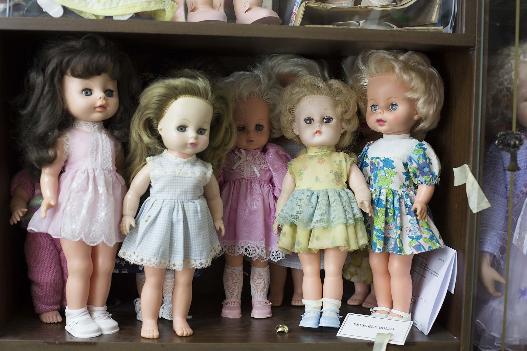 Pedigree dolls, the two on the right are wearing their original outfits 1970s