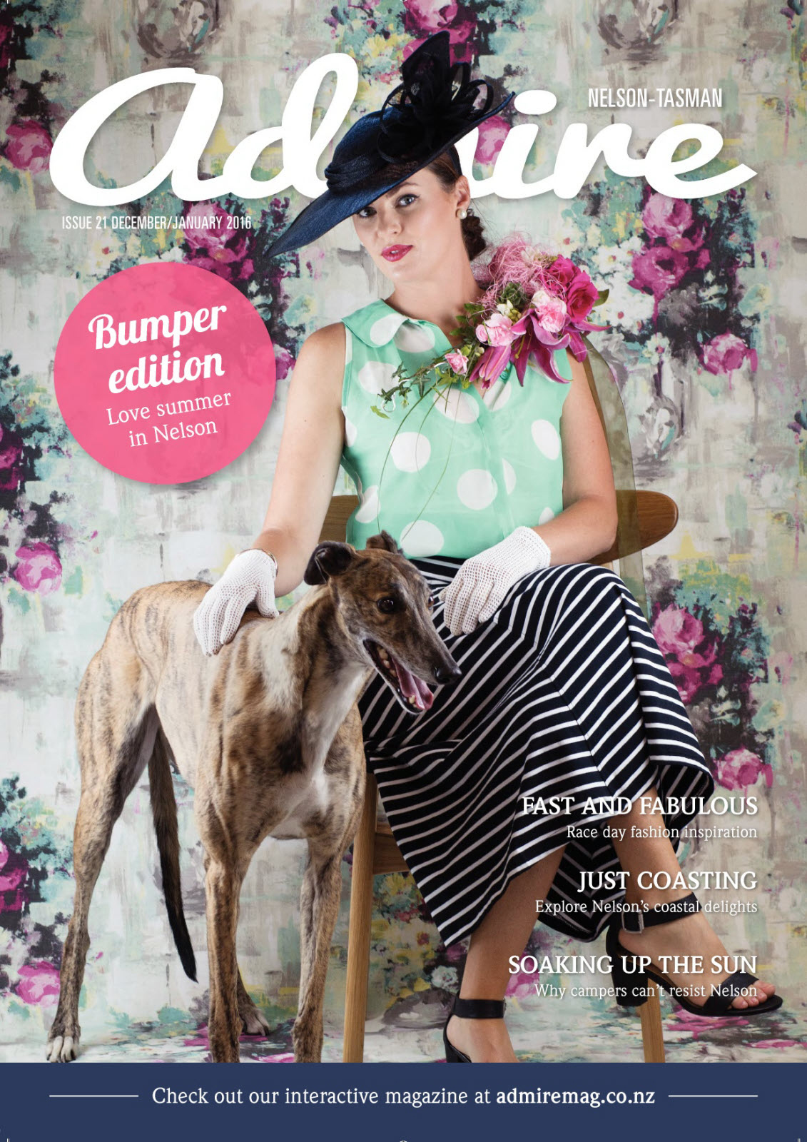 December/January Bumper issue cover - Model: Anthea Shearer.