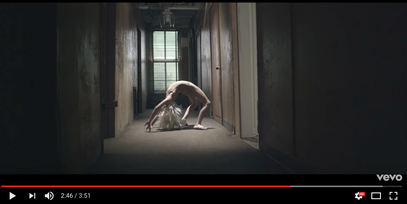 Maddie Ziegler in Sia's Chandelier music video